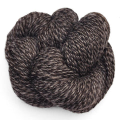 Handspun yarn - natural color Shetland wool, worsted weight - knot
