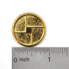 Button with ruler
