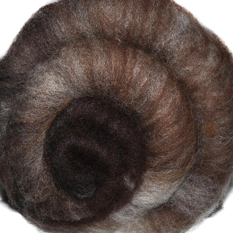 Spinning fiber batt, mixed fibers - Chip Carving - 1.9 ounces