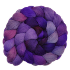 Hand painted Falkland Merino wool roving for hand spinning and felting