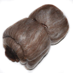 Carded wool batt for spinning and felting, mixed fiber