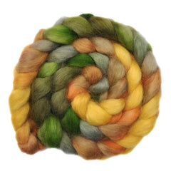Hand painted Teeswater wool for hand spinning and felting