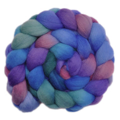 Hand painted Falkland wool roving for hand spinning and felting