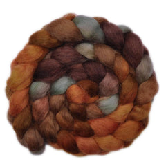 Hand painted Wensleydale wool for hand spinning and felting