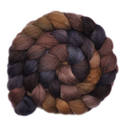 Hand painted Yak / Silk / Merino wool roving for hand spinning