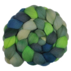 Hand painted Falkland wool roving for hand spinning and feltin
