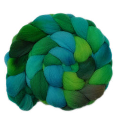Hand painted Southdown wool roving for hand spinning