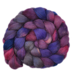 Hand painted silk / Royal Alpaca roving for hand spinning