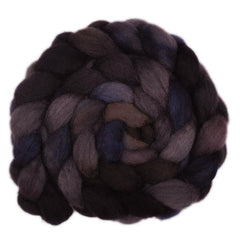 Hand painted Finn / Gotland wool roving for hand spinning and felting