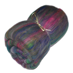 Carded batt for spinning and felting