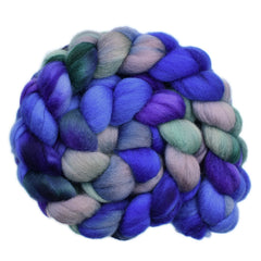 Hand painted wool roving for hand spinning and felting