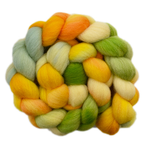 Cheviot Wool Roving - Bright Fields 1 - 4.1 ounces