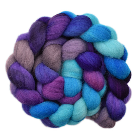 Cheviot Wool Roving - Crossing the Waves 2- 4.1 ounces