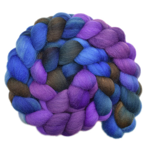 Cheviot Wool Roving - Fog of Dreams 2- 5.3 ounces
