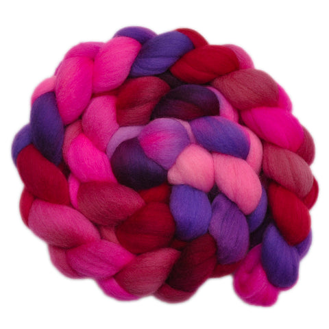 Falkland Merino Wool Roving - Pink Dreams 2 - 4.2 ounces