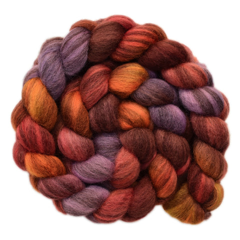 BFL Humbug Wool Roving - Blacksmith's Forge 2 - 4.1 ounces