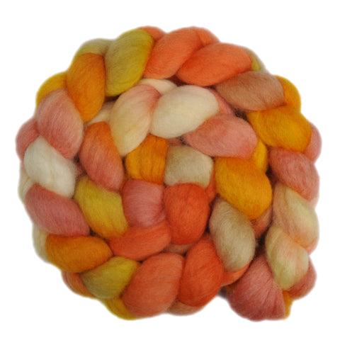 BFL Wool Roving - Glowing Sun 1 - 4.2 ounces
