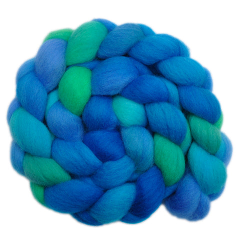 Falkland Wool Roving - Water Play 1 - 4.2 ounces