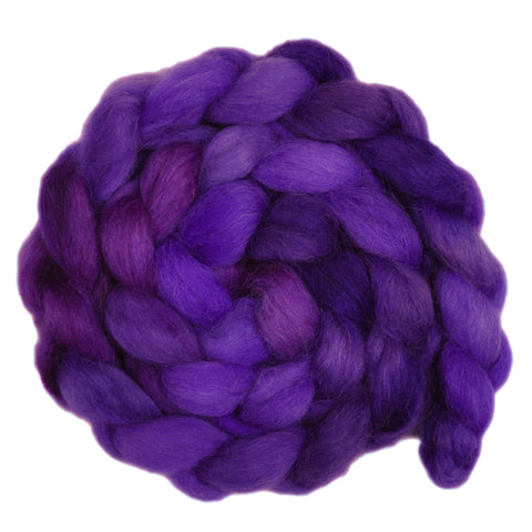 Wensleydale Wool Roving - Purple Gems - 4.2 ounces