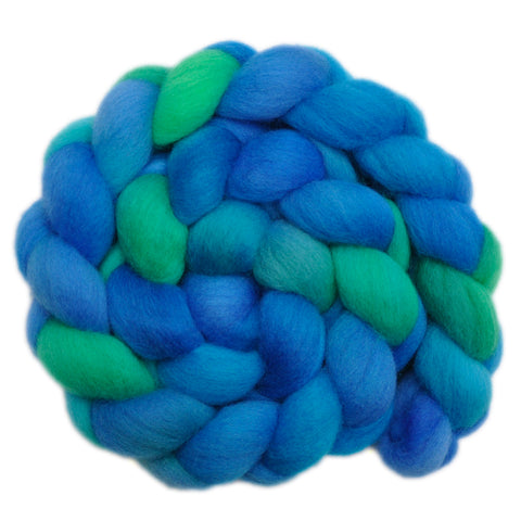 Falkland Wool Roving - Water Play 2 - 4.1 ounces