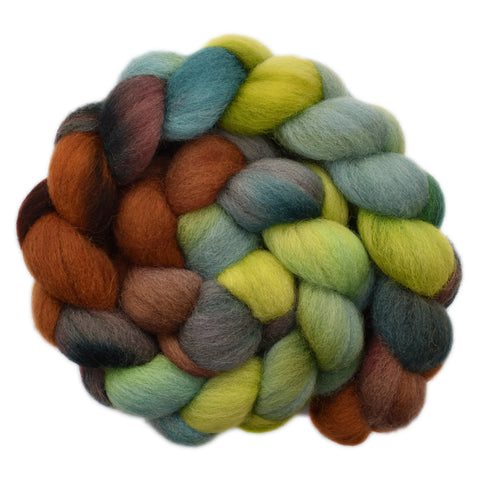 Cheviot Wool Roving - Forest Walk 2 - 4.1 ounces