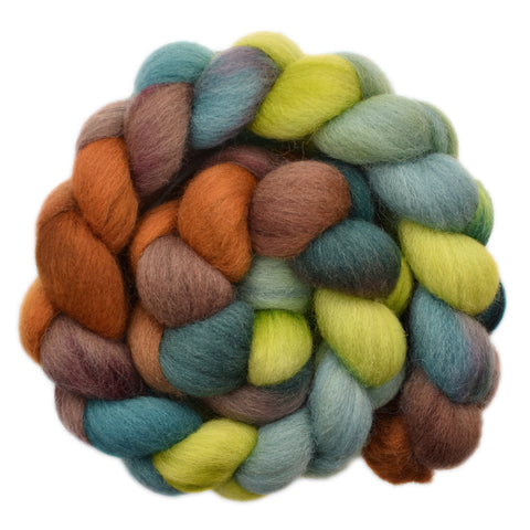 Cheviot Wool Roving - Forest Walk 1 - 4.1 ounces
