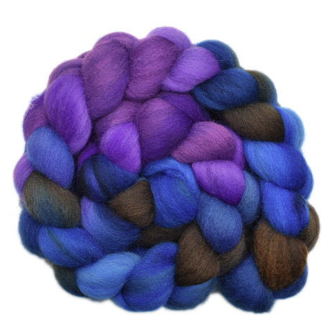 Cheviot Wool Roving - Fog of Dreams 1- 4.3 ounces
