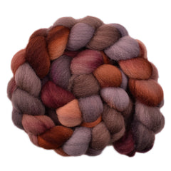 Hand painted Shropshire wool roving for hand spinning and felting