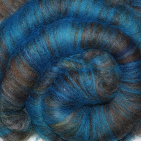 Spinning fiber batt, mixed fibers - Casa Malpais - 2.0 ounces