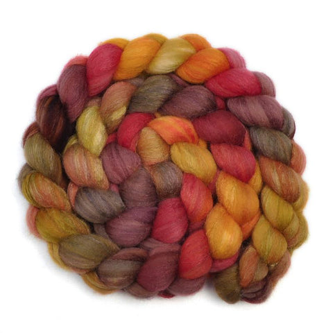 Silk / Polwarth 40/60% Wool Roving - Family Homestead - 4.1 ounces