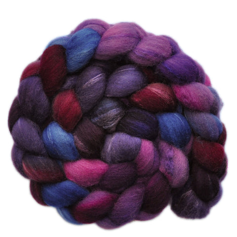 Silk / Shetland 30/70% Wool Roving - Let's Go - 3.8 ounces