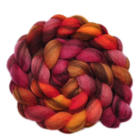 BFL Humbug Wool Roving - Molten Iron - 4.1 ounces