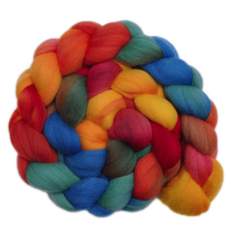 21.5 micron Merino Wool Roving - Summer Place 1 - 4.0 ounces