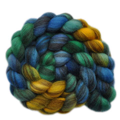 BFL Humbug Wool Roving - High Tide 1 - 4.1 ounces