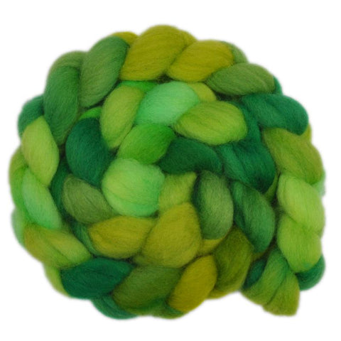 Finn Wool Roving - Young Leaves 1 - 4.0 ounces