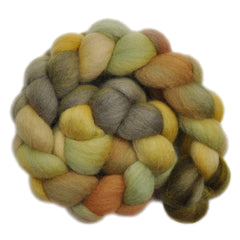 and painted Corriedale wool for hand spinning and felting