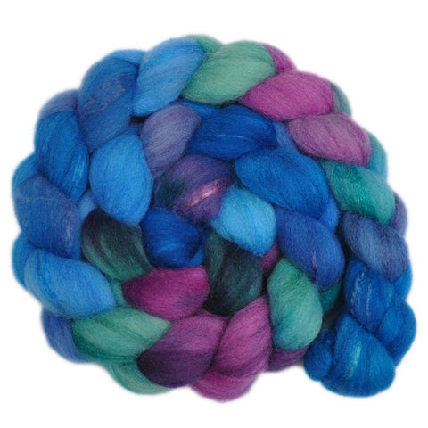 Silk / Shetland 30/70% Wool Roving - Rapid Ascent - 4.1 ounces
