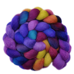 Hand painted BFL wool for hand spinning and felting