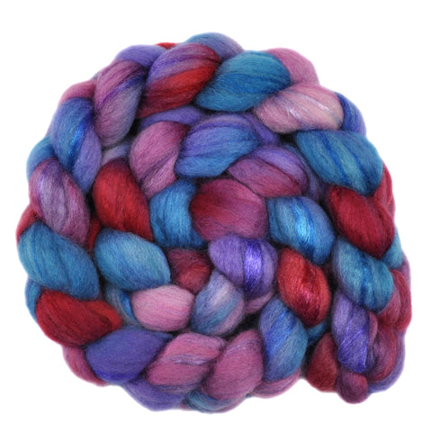 BFL Wool / Trilobal Nylon 70/30% Roving - Innocent Gesture 2 - 3.9 ounces