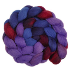 Hand painted South American wool roving for hand spinning and felting