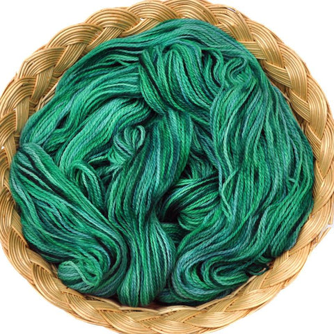 Peruvian Highland Wool Yarn, Fingering Weight, 440 yards - Green & Turquoise