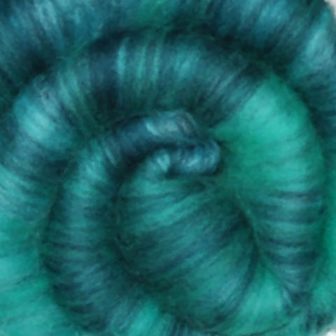 Spinning fiber batt, mixed fibers - Mountain Spring - 2.1 ounces