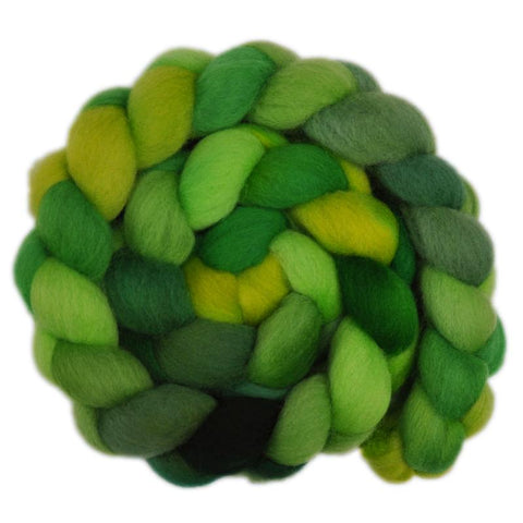 Falkland Wool Roving - Green Shoots 2 - 4.2 ounces