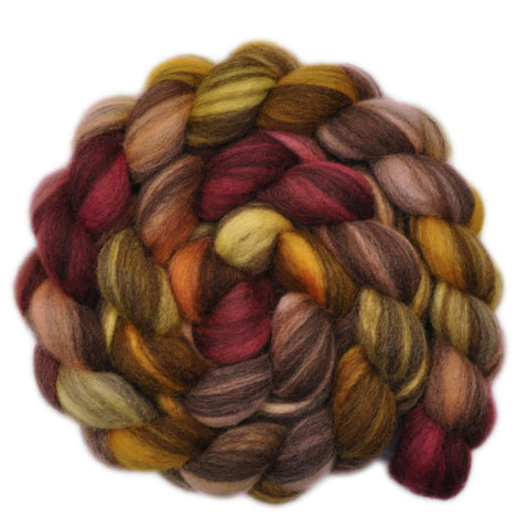 BFL Humbug Wool Roving - Rash Gesture 2 - 4.0 ounces
