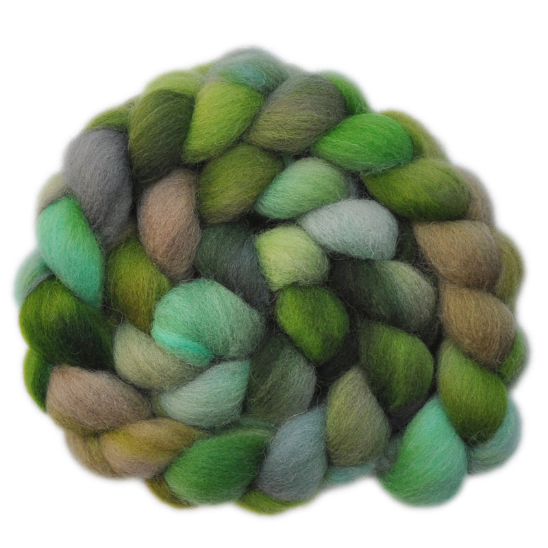 Hand painted Texel wool roving for hand spinning and felting