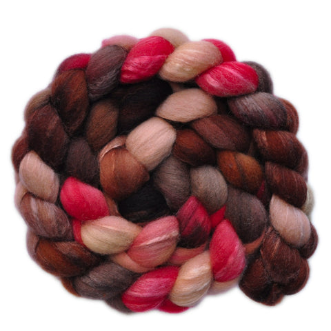 Silk / Shetland 30/70% Wool Roving - Questionable Date 2 - 4.3 ounces