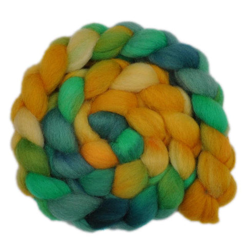 Finn Wool Roving - Sunflowers 2- 4.1 ounces