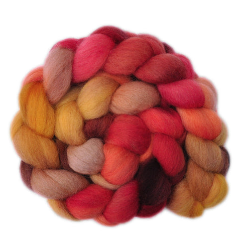 Corriedale Cross Wool Roving - In a Nutshell 1 - 4.1 ounces