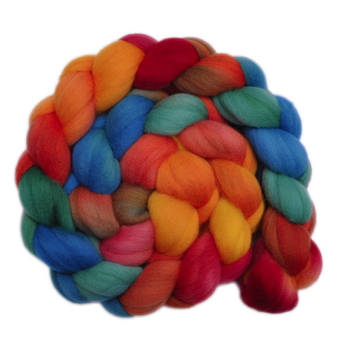 21.5 micron Merino Wool Roving - Summer Place 2 - 4.1 ounces