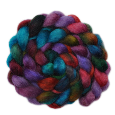 Wensleydale Wool Roving - Flashbacks - 4.1 ounces